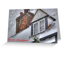 Winter Cottage Christmas Card Greeting Card