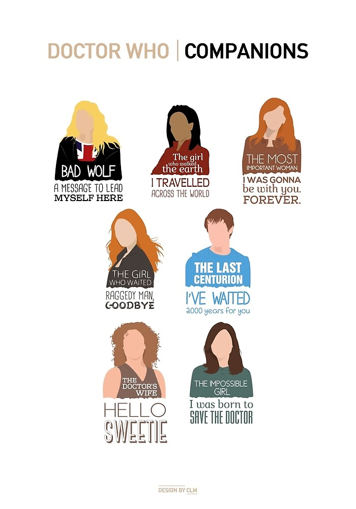 Doctor Who  Companions (alternate version) by CLMdesign