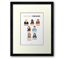 Doctor Who | Companions (alternate version) Framed Print