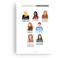 Doctor Who | Companions (alternate version) Canvas Print