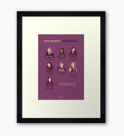 Doctor Who | Companions Framed Print