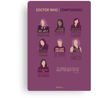 Doctor Who | Companions Canvas Print