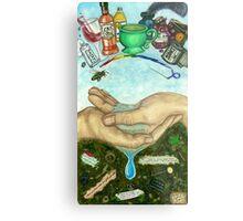 10 of Cups Tarot Card Metal Print
