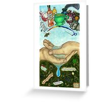 10 of Cups Tarot Card Greeting Card