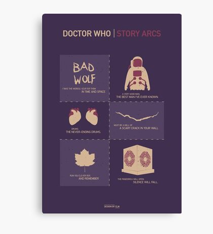 Doctor Who | Story Arcs Canvas Print