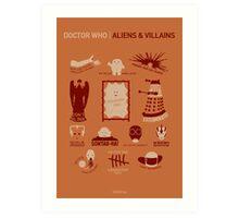 Doctor Who |Aliens & Villains (alternate version) Art Print