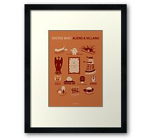 Doctor Who | Aliens & Villains (alternate version) Framed Print