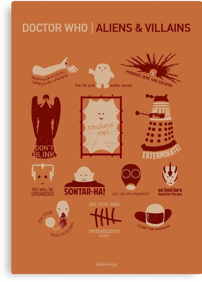 Doctor Who |Aliens & Villains (alternate version) by CLMdesign