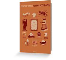 Doctor Who | Aliens & Villains (alternate version) Greeting Card