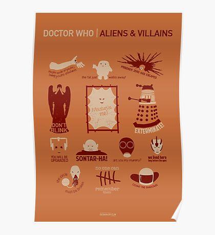Doctor Who |Aliens & Villains (alternate version) Poster