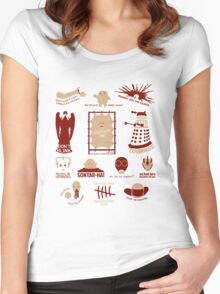 Doctor Who |Aliens & Villains (alternate version) Women's Fitted Scoop T-Shirt