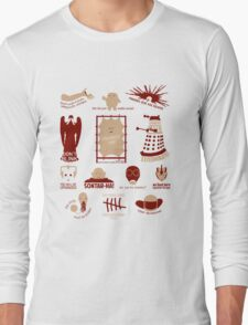 Doctor Who | Aliens & Villains (alternate version) Long Sleeve T-Shirt