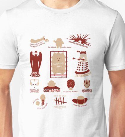 Doctor Who |Aliens & Villains (alternate version) Unisex T-Shirt