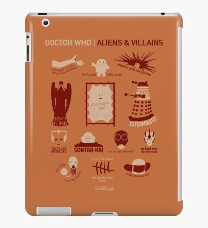 Doctor Who | Aliens & Villains (alternate version) iPad Case/Skin