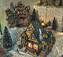Glowing Lights from the Christmas Village by Jane Neill-Hancock
