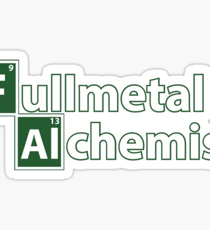 fullmetal alchemist breaking bad  Sticker