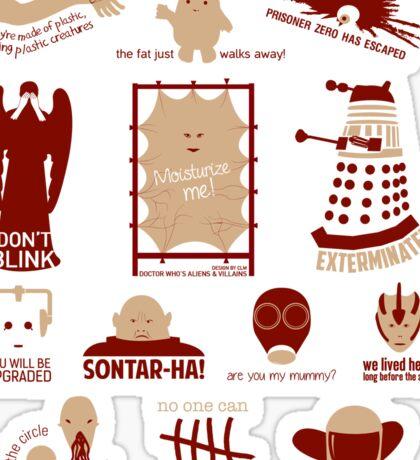 Doctor Who   Aliens & Villains Sticker