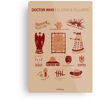 Doctor Who | Aliens & Villains Metal Print