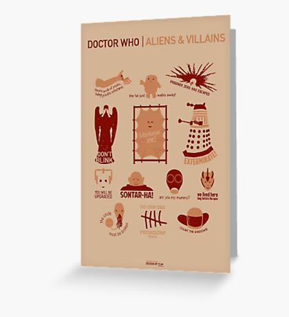 Doctor Who | Aliens & Villains Greeting Card
