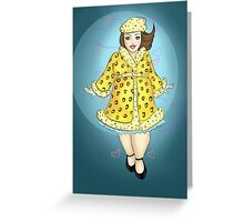 Aerodynamic - The Leopard-print Lady Greeting Card