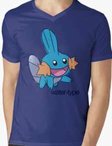Pokemon Water-types - Mudkip Mens V-Neck T-Shirt