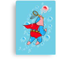 Superstar Jelly-fishing! Canvas Print