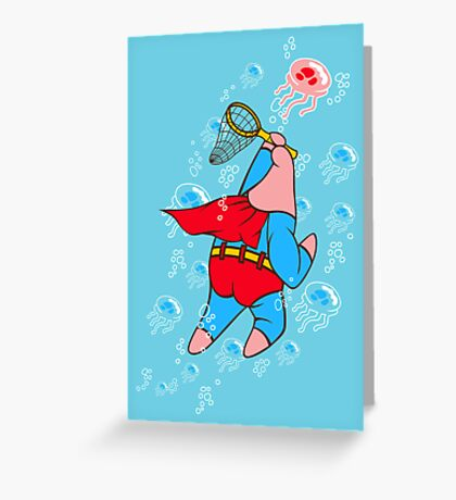 Superstar Jelly-fishing! Greeting Card