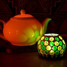 Lit teapot by Jennifer Eurell