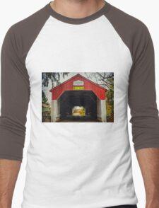 Uhlerstown Covered Bridge IV Men's Baseball ¾ T-Shirt