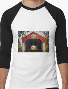 Uhlerstown Covered Bridge IV Men's Baseball ¾ T-Shirt