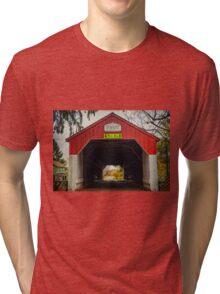 Uhlerstown Covered Bridge IV Tri-blend T-Shirt
