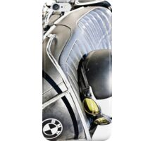 Vintage BMW Cafe Motorcycle with Helmet & Goggles iPhone Case/Skin