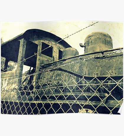 Iron Horse Behind the Fence Poster