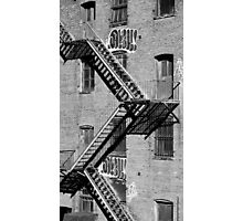 Hope you're less scared of heights than fires... Photographic Print