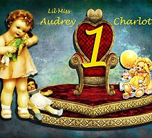 AUDREY CHARLOTTE 1ST BIRTHDAY CARD by Tammera