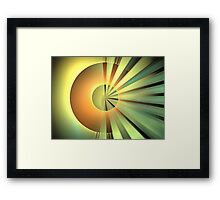 Clementine Rays Framed Print