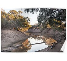 Darling River on Trilby Station, Outback NSW Poster