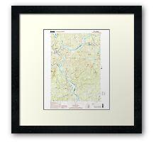 USGS TOPO Map New Hampshire NH Bristol 329491 2000 24000 Framed Print