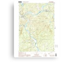 USGS TOPO Map New Hampshire NH Bristol 329491 2000 24000 Canvas Print