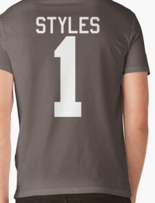 Harry Styles jersey (white text) Mens V-Neck T-Shirt