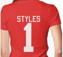 Harry Styles jersey (white text) Womens Fitted T-Shirt