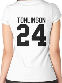 Louis Tomlinson jersey (black text) Women's Fitted Scoop T-Shirt