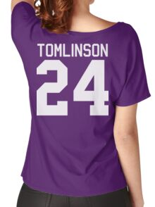 Louis Tomlinson jersey (white text) Women's Relaxed Fit T-Shirt