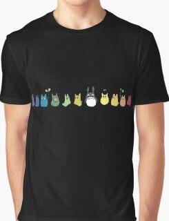 Rainbow Totoro Graphic T-Shirt