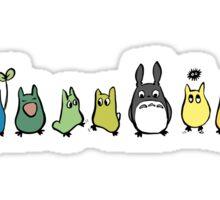 Rainbow Totoro Sticker