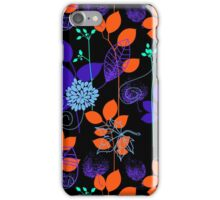 Foliage Indigo & Orange [iPhone / iPod Case and Print] iPhone Case/Skin