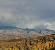 Ubehebe Crater and mountains by Claudio Del Luongo