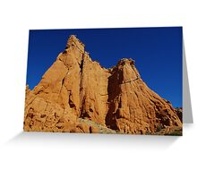 Kodachrome rocks under blue sky, Utah Greeting Card