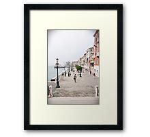 Venetian promenade Framed Print
