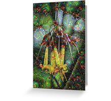 Hanging Flowers Machine Dreams Greeting Card